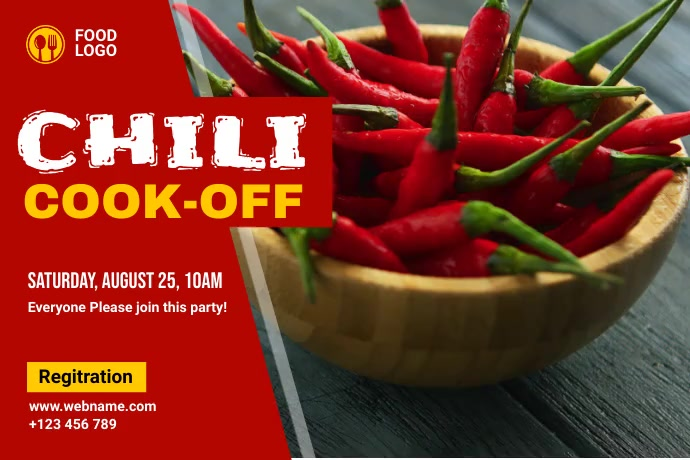 Chili cook off Баннер 4' × 6' template