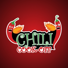 Chili Cook Off Logo template