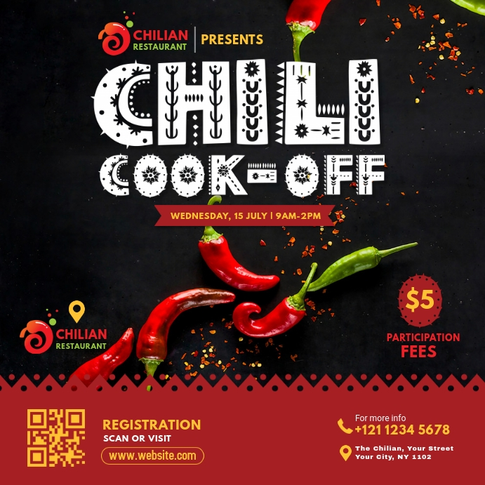 Chili Cook-Off Event Instagram Post