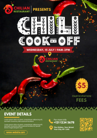 Chili Cook-Off Flyer Template A4
