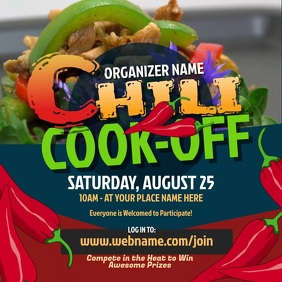 Chili Cook-Off Instagram Post template