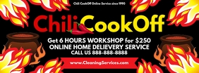 Chili Cook Off Online Service Card Template Facebook-omslagfoto