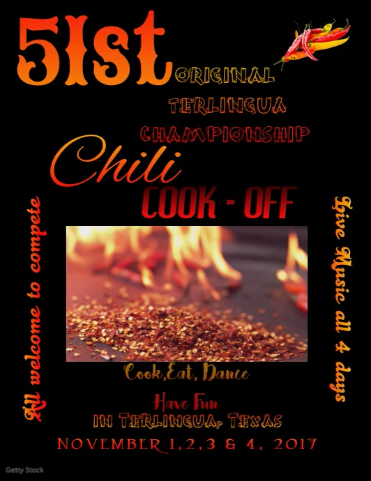 Chili Cook Off Flyer Template Postermywall
