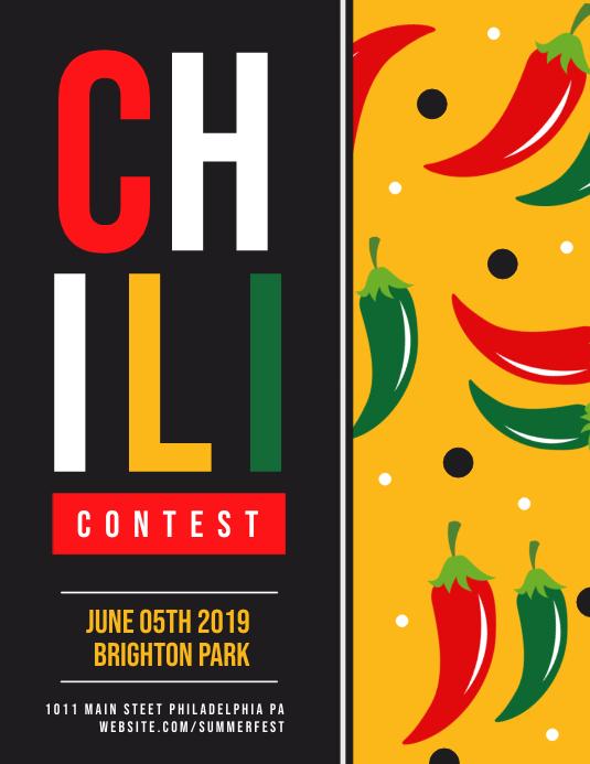 Chili Folder (US Letter) template
