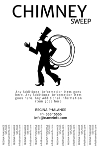 chimney sweep service tear off tabs Template Free