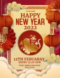Chines new year, Chinese 2021 Flyer (US Letter) template