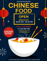 CHINESE FOOD RESTAURANT FLYER TEMPLATE