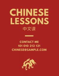 Chinese Lessons Tutor Flyer