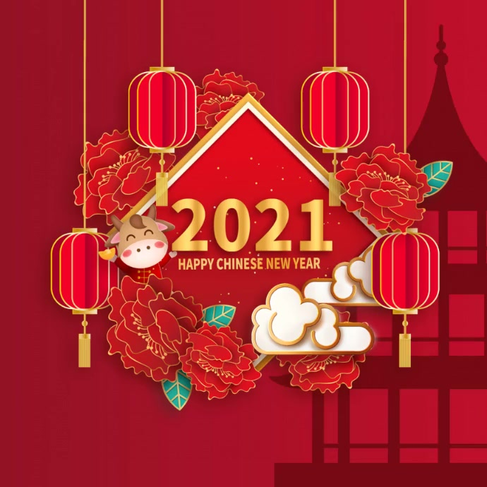 Chinese new year,year of Ox Pos Instagram template