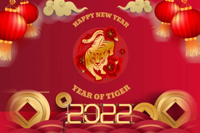Chinese new year,year of Ox โปสเตอร์ template