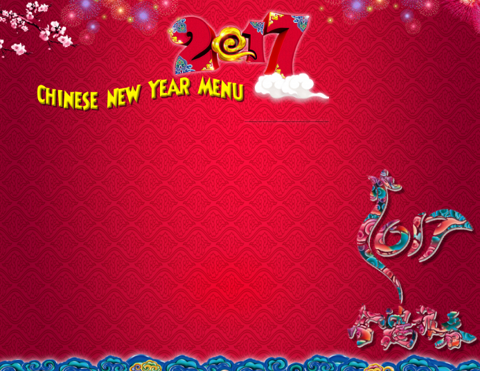 chinese new year 2017 customize template