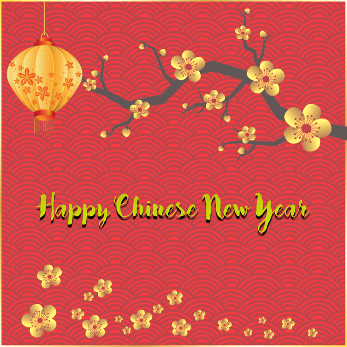 chinese new year 2018 customize template