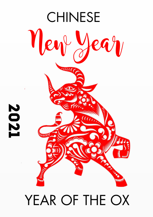 Chinese new year 2021 A3 template