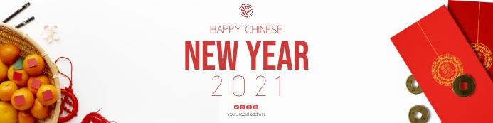 Chinese new year banner template