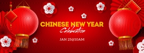 Chinese New Year Celebration Flyer Couverture Facebook template