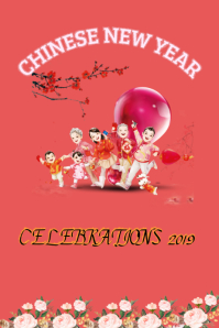 chinese new year design flyer template,new year poster