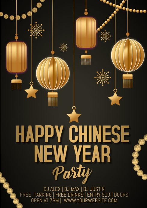 chinese new year A4 template