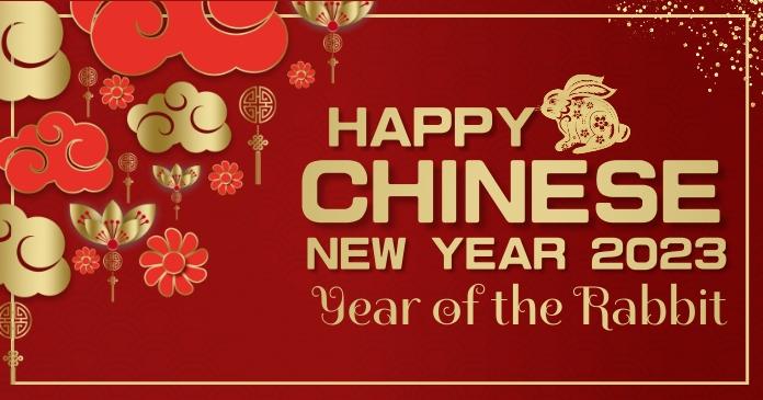 Chinese new year Gambar Bersama Facebook template