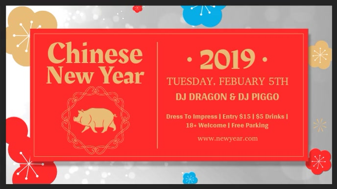 Chinese New Year Digital Display Video