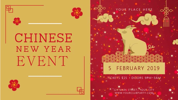 Chinese New Year Event Digital Display Video