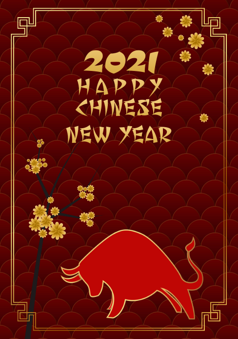 Chinese New Year Flyer A5 template