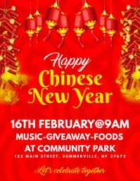 Chinese New Year Flyer Iflaya (Incwadi ye-US) template