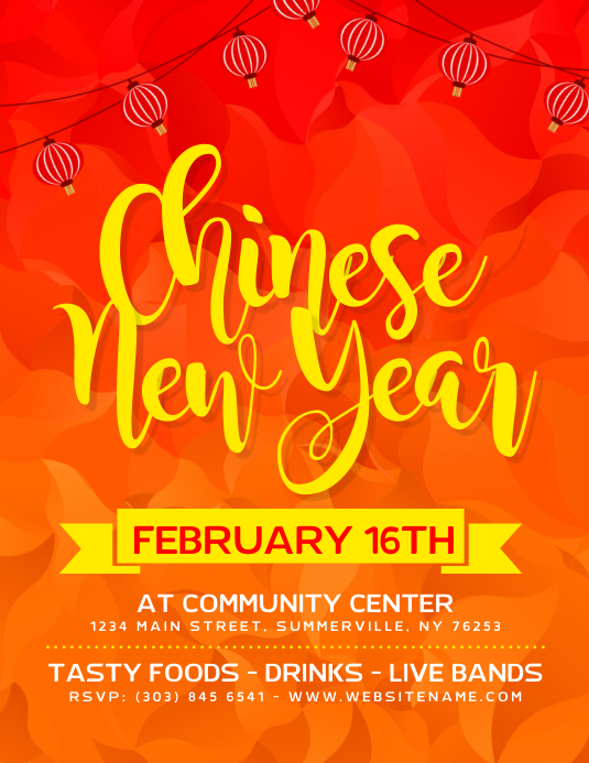 chinese new year flyer customize template