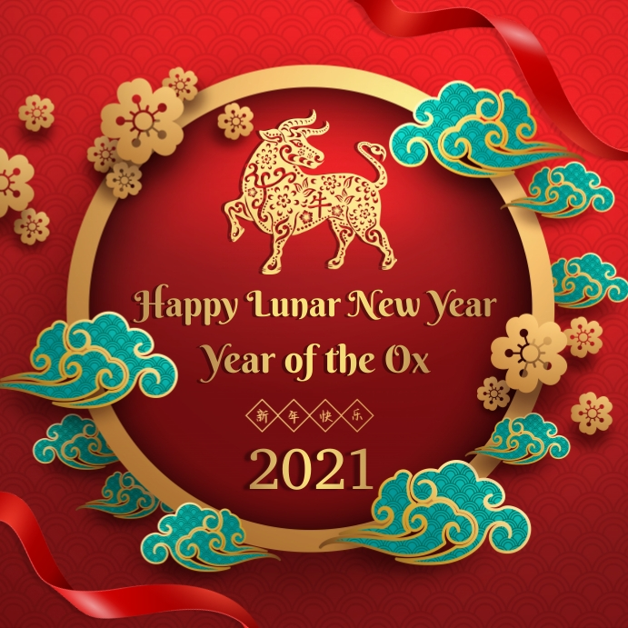 Chinese new year greeting Pos Instagram template