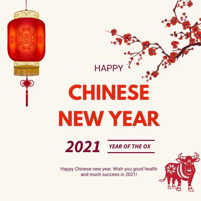 Chinese new year greetings Pos Instagram template