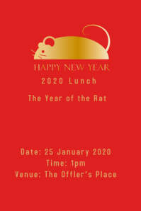 Chinese New Year Lunch Template