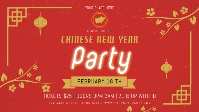 Chinese New Year Party Digital Display Video