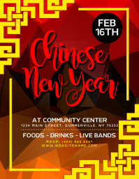 chinese new year flyer chinese new year party invitation template