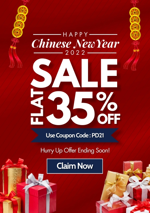 Chinese New Year Sale 2021 Template A4