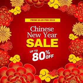 Chinese New Year Sale Discount Instagram Social Media