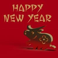 chinese new year template Publicação no Instagram