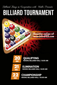 Billiard tournament template