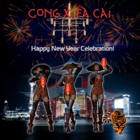 Chinese new year video/ China/ Happy new year/Night Party