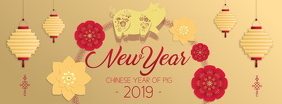 Chinese New Year Wish Facebook Cover Photo template