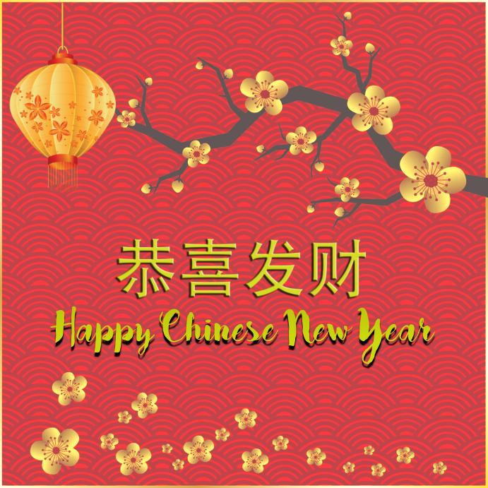 chinese new year with chinese word template