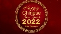 Chinese New Years 2021 Video Sampul Facebook (16:9) template