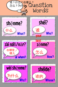 Chinese question words 1