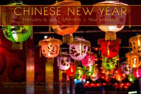 Chinese Rainbow Paper Lanterns Festival Fireworks Night