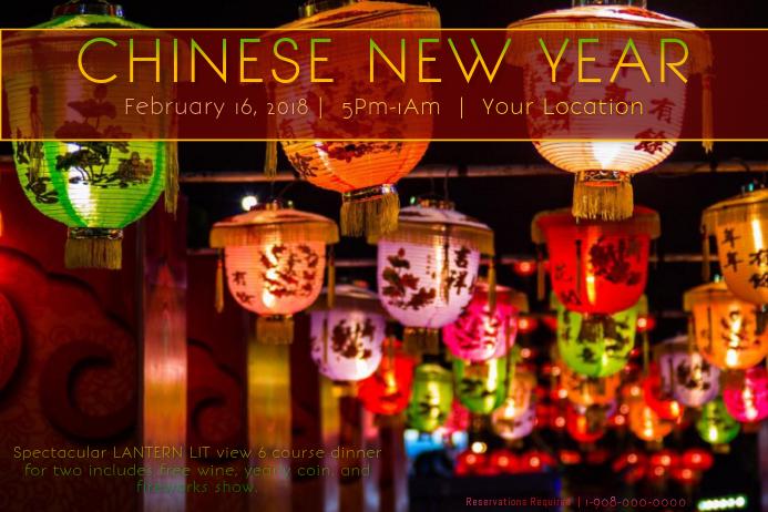 chinese rainbow paper lanterns festival fireworks night template