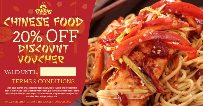 Chinese Restaurant Facebook Promo Template