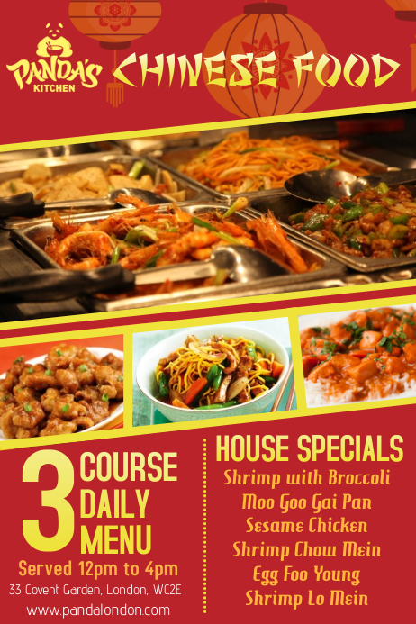 Chinese Restaurant Flyer Template Postermywall