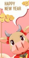 chineses new year,chinese Spanduk Gulir Atas 3' × 6' template