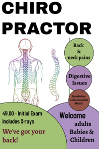 chiropractor/health & wellness/clinic Плакат template