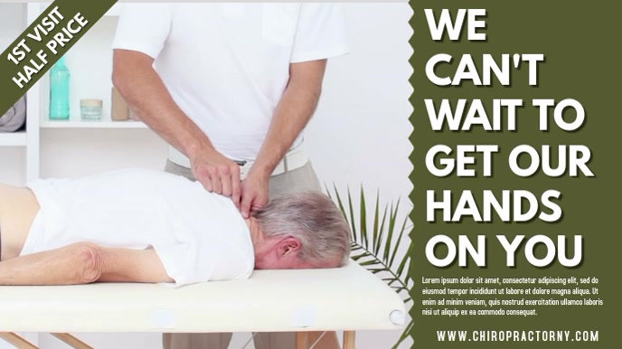 Chiropractor Video Ad Template