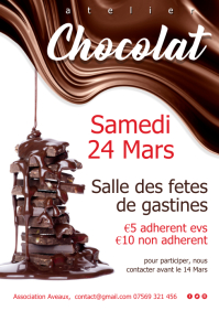 Chocolat atelier affiche A4 template