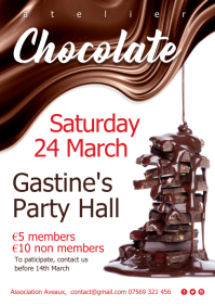 Chocolat atelier event Poster A4 template